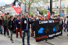 Manifestation nantaise du 14 avril 2018 contre l'expulsion de la ZAD de Notre-Dame-des-Landes - Photo of Saint-Cyran-du-Jambot