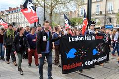 Manifestation nantaise du 14 avril 2018 contre l'expulsion de la ZAD de Notre-Dame-des-Landes