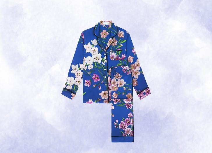 pigiama seta floreale
