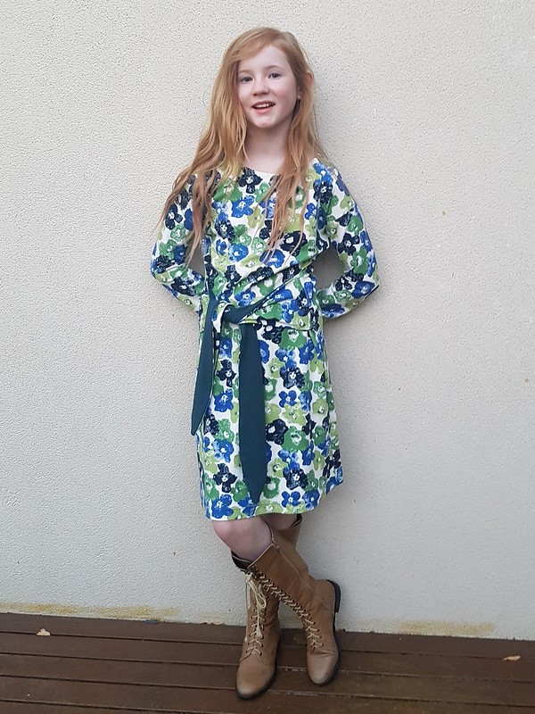 Oliver + S Girl on the Go dress in printed ponte from Spotlight