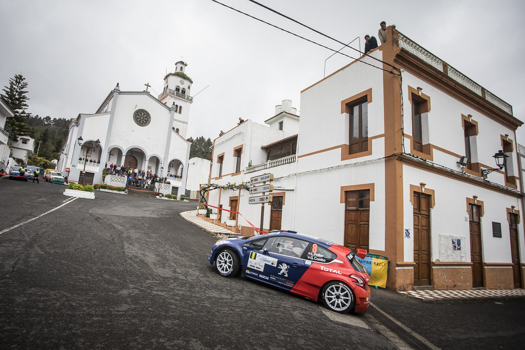 08 PELLIER Laurent (fra), COMBE Geoffrey (fra), PEUGEOT RALLY ACADEMY, PEUGEOT 208 T16, action during the 2018 European Rally Championship ERC Rally Islas Canarias, El Corte Inglés,  from May 3 to 5, at Las Palmas, Spain - Photo Gregory Lenormand / DPPI
