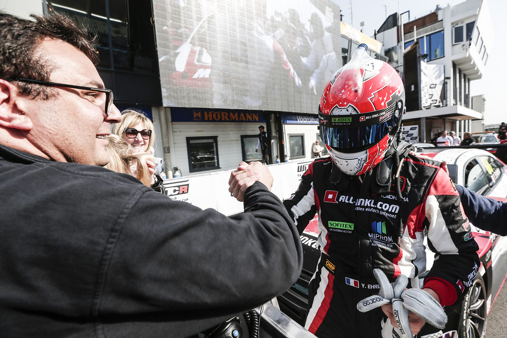 EHRLACHER Yann, (fra), Honda Civic TCR team ALL-INKL.COM Munnich Motorsport, portrait, finish celebrating victory, during the 2018 FIA WTCR World Touring Car cup of Zandvoort, Netherlands from May 19 to 21 - Photo Jean Michel Le Meur / DPPI