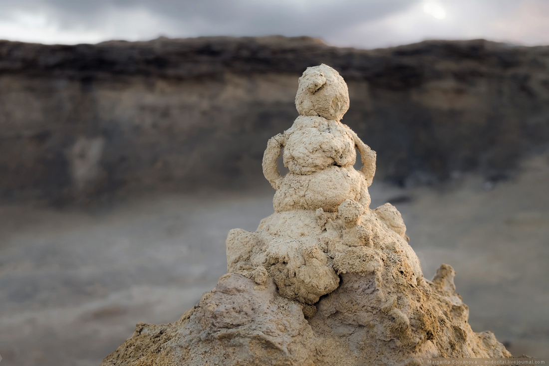 Snowman from sandy sandman