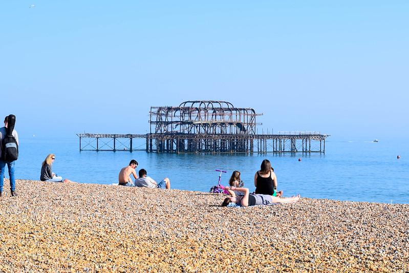 Den nedbrunna piren i Brighton