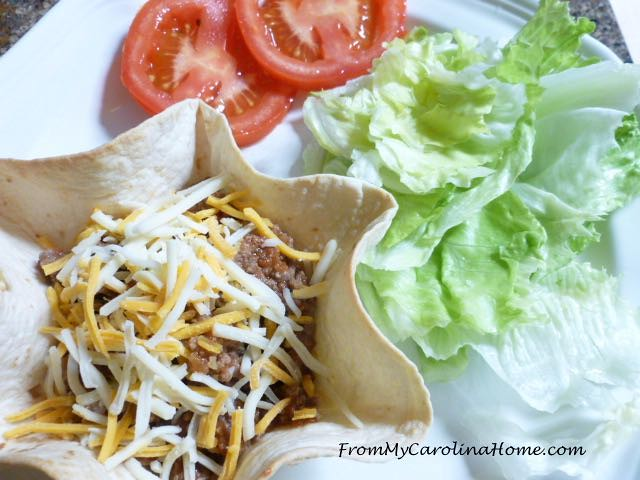 Taco Salad with Baked Shell at From My Carolina Home