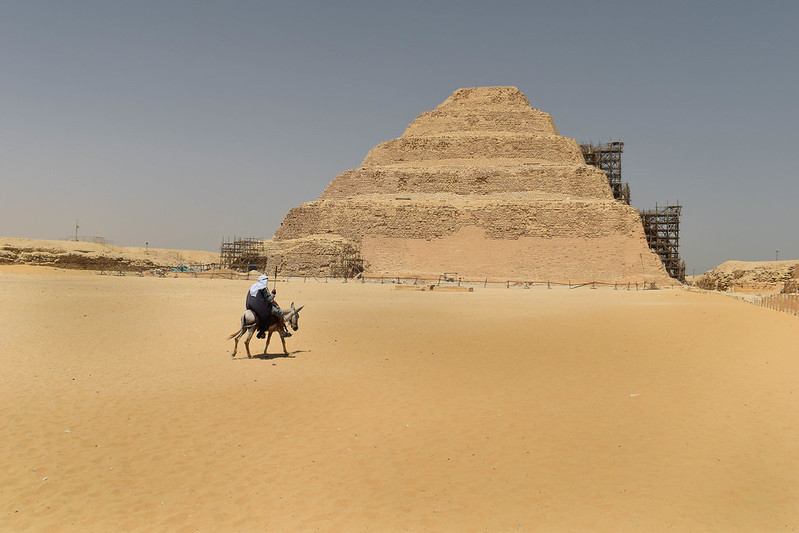At the Step Pyramid of Zoser in Saqqara