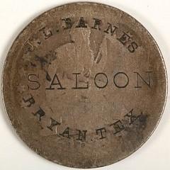 JL Barnes Saloon Token