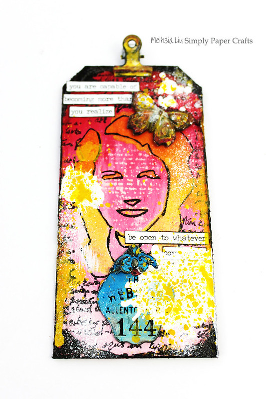 Meihsia Liu Simply Paper Crafts Mixed Media Tag Ombre Dina Wakley 1