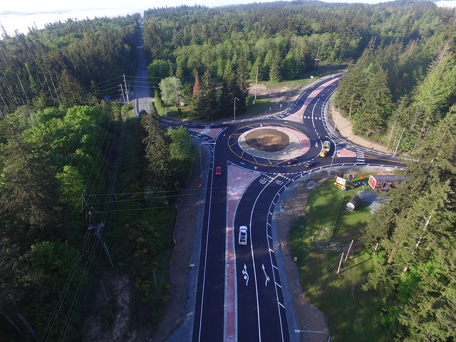 SR 20 and Miller/Gibralter roads roundabout