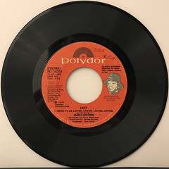 JAMES BROWN:HOT(I NEED TO BE LOVED, LOVED, LOVED)(RECORD SIDE-A)
