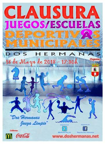 Cartel Fiesta de clausura de los Juegos Deportivos Municipales
