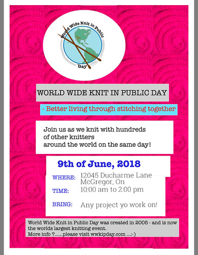 World Wide Knit in Public Day! Join in the fun!