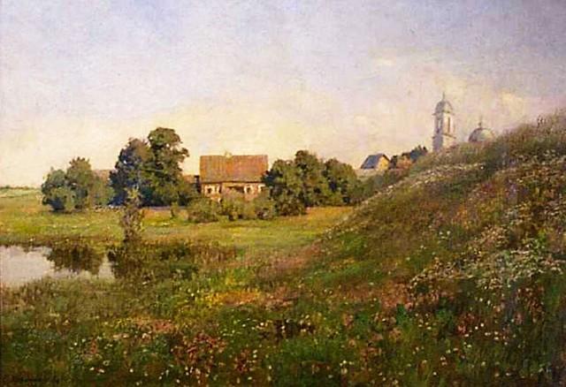 кувшинникова Пейзаж с церковью