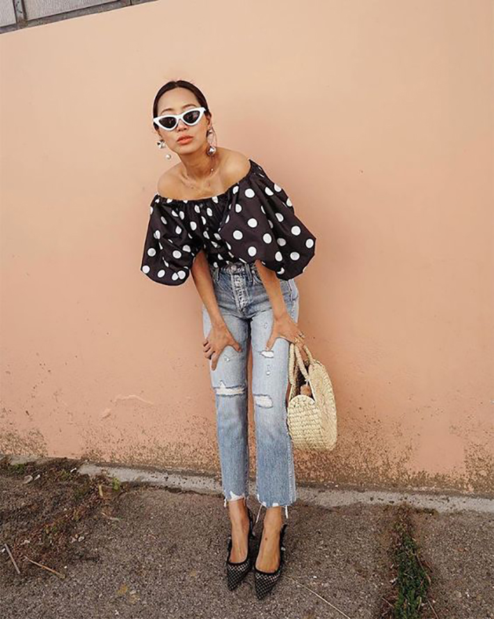 Polka dots trend Outfit Ideas for Spring 2018 style fashion tendencias primavera5
