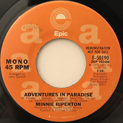 MINNIE RIPERTON:ADVENTURES IN PARADISE(LABEL SIDE-B)