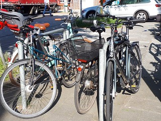Fahrräder am Kieler Fahrradbügel