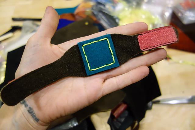Pegboard pin bracelet