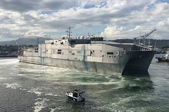 In this file photo, USNS Millinocket (T-EPF 3) arrives in Subic Bay, Philippines, for a port visit in November 2017. (U.S. Navy/Capt. Todd Kutkiewicz)