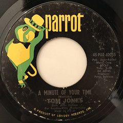TOM JONES:A MINUTE OF YOUR TIME(LABEL SIDE-A)