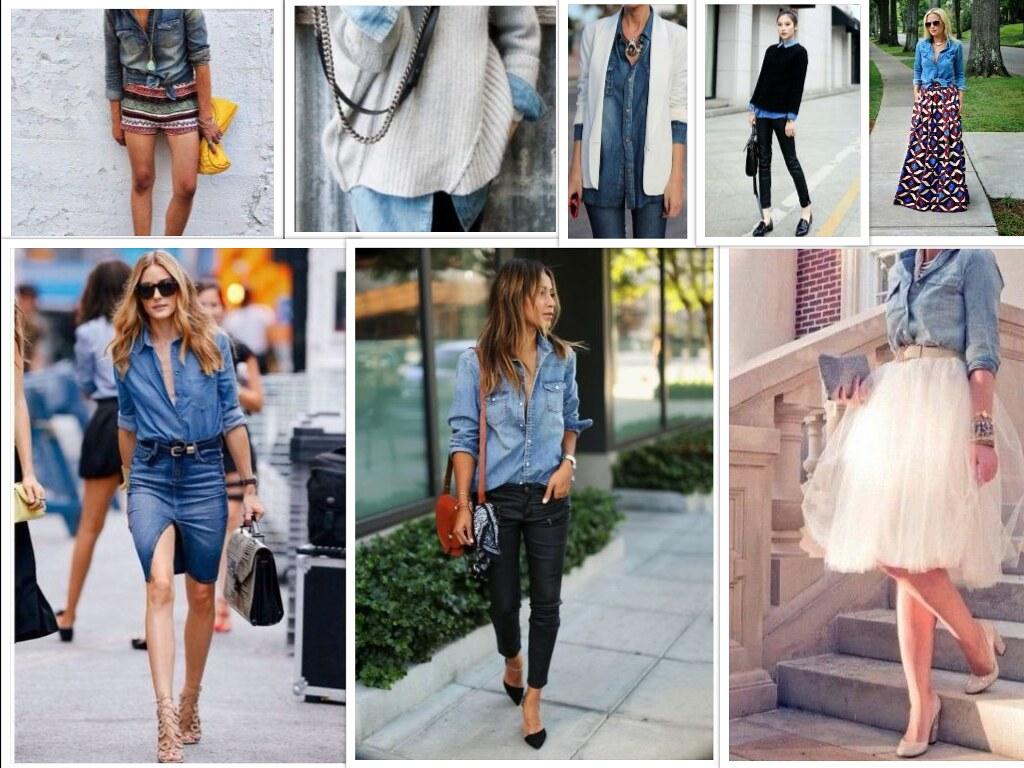 collageCamicia Jeans