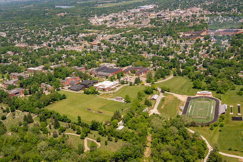 Aerial View of Earlham College