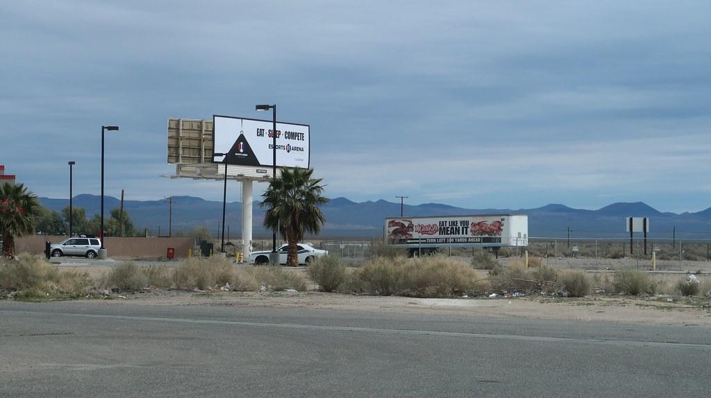 Esports Arena Las Vegas billboard in Baker, CA