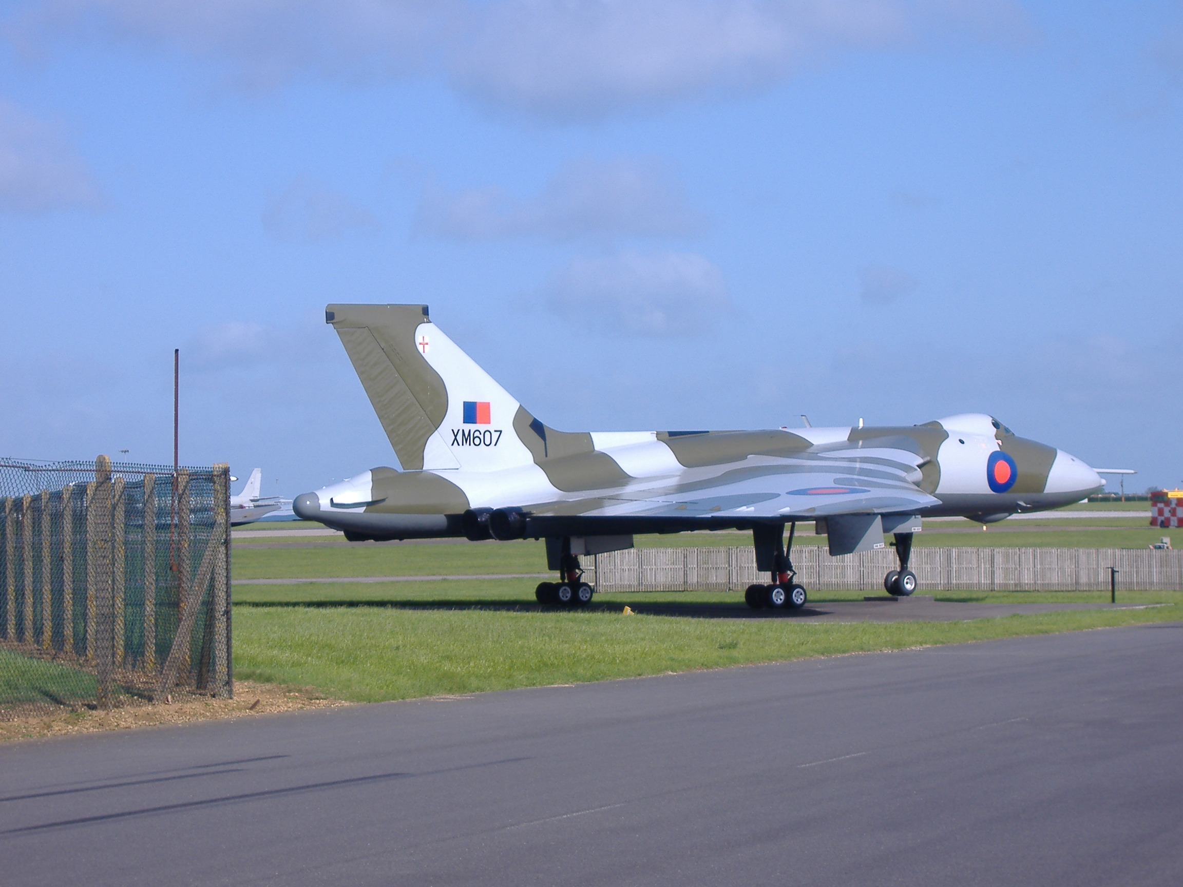 XM607, the first Vulcan to participate in Black Buck, photographed at Waddington on May 19, 2007.