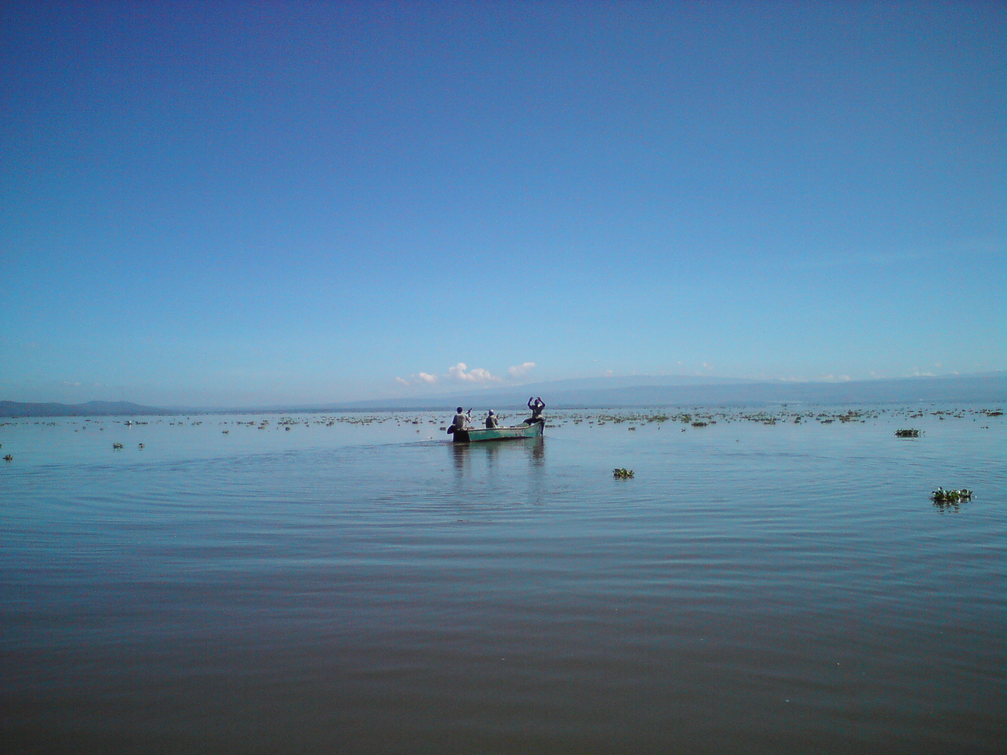 Fishermen on Lake Naivasha, Kenya. Photo taken on November 16, 2008.