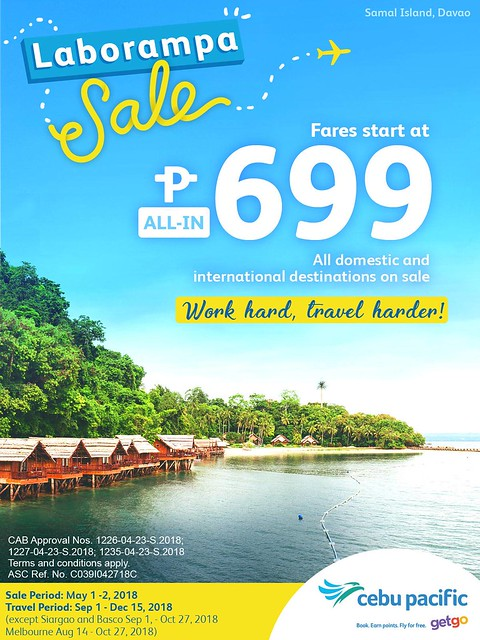 Cebu Pacific LABORampa Sale
