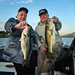 Mary Harrsch and Leroy Becker on a guided bass fishing trip just north of Los Angeles, California in 2010 by mharrsch