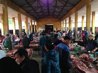 イェンミンのマーケットとザイ族の村