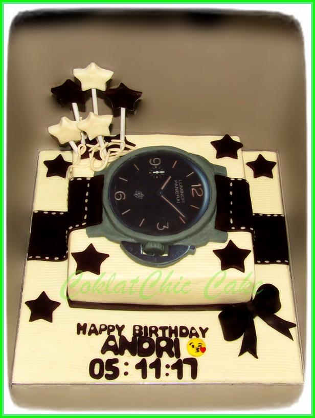 Cake Jam Tangan Panerai ANDRI 15 cm