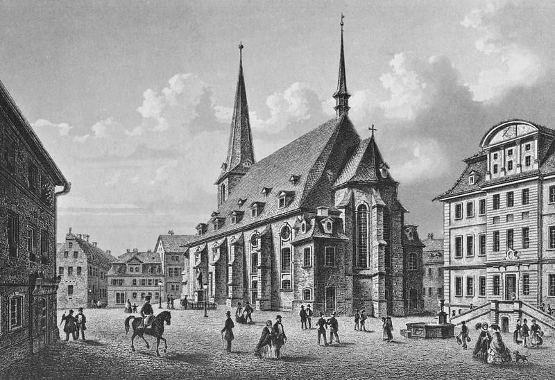 Herderplatz von Südosten (Stahlstich von L. Oeder um 1840)