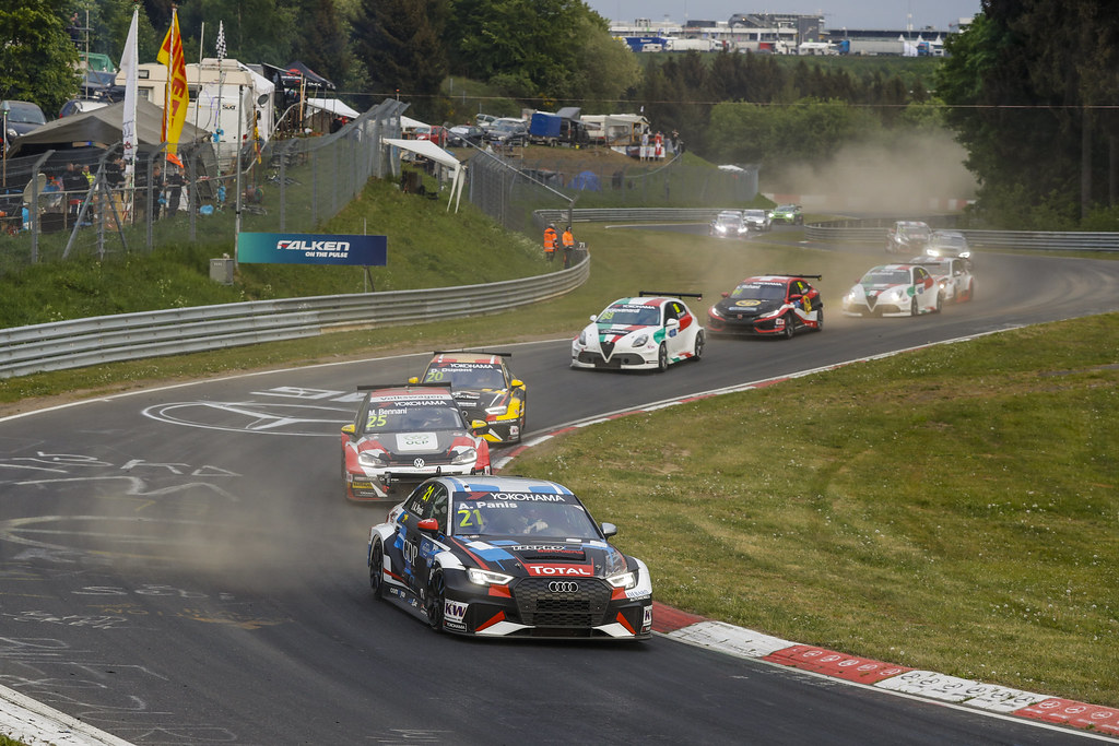 21 PANIS Aurelien (FRA), Comtoyou Racing, Audi RS3 LMS, action during the 2018 FIA WTCR World Touring Car cup of Nurburgring, Nordschleife, Germany from May 10 to 12 - Photo Florent Gooden / DPPI