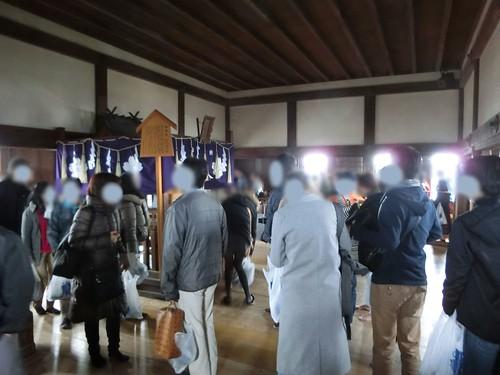姫路城の天守閣の混雑