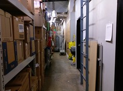 Back stockroom hallway (leading to the restrooms)