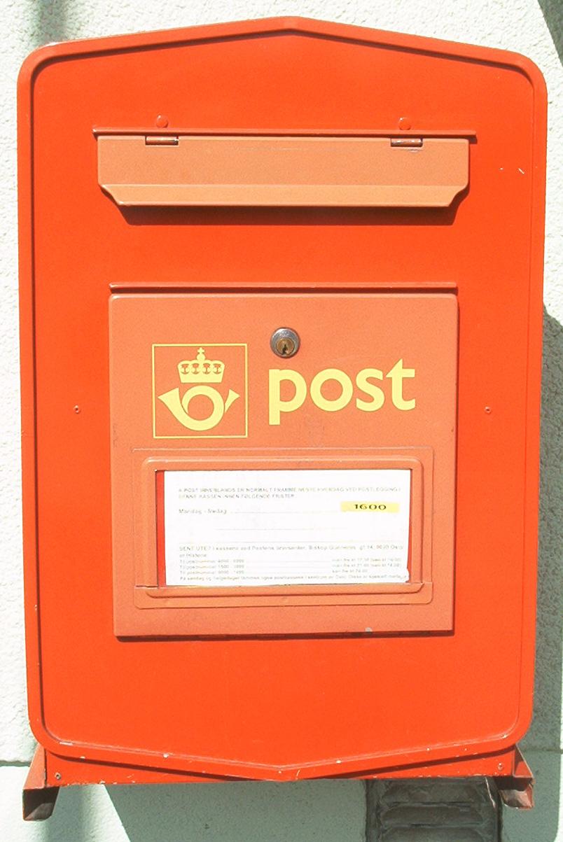 Norwegian letter box. Photo taken on January 1, 2001.