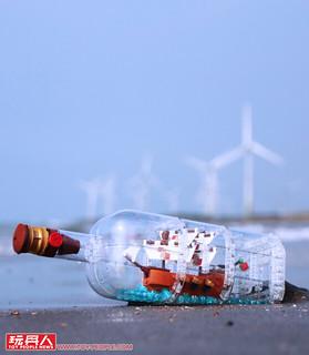 令人驚豔的收藏質感!! LEGO 21313 Ideas 系列【瓶中船】Ship in a Bottle 開箱報告