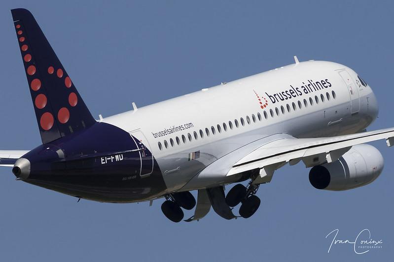 Sukhoi SSJ-100-95B Superjet 100 – Brussels Airlines (CityJet) – EI-FWD – Brussels Airport (BRU EBBR) – 2018 05 07 – Takeoff RWY 07R – 01 – Copyright © 2018 Ivan Coninx