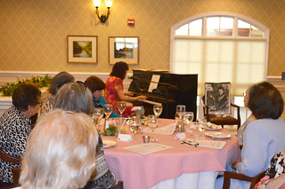 AnnualLuncheon2018_0146: Dr. Karen Fanta Zumbrunn at the piano.-