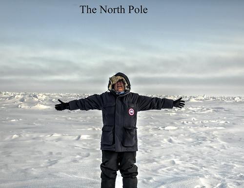 The vast polar ice cap at the North Pole