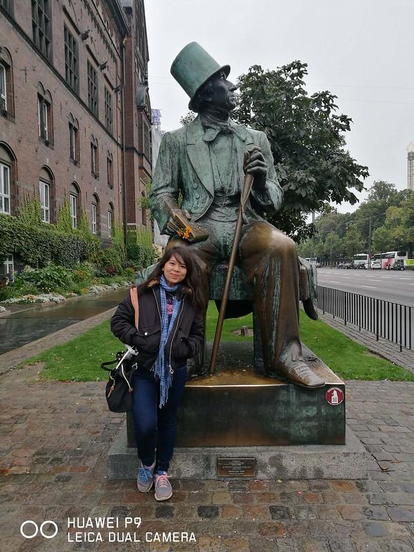 2017 Europe Copenhagen Hans Christian Andersen Statue