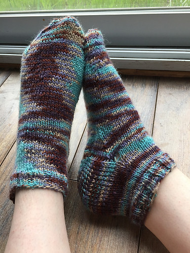 Christina's Vanilla Latte Socks, a free pattern by Virginia Rose-Jeanes