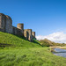 Kidwelly castle on the river Gwendraeth, Pembrokeshire
