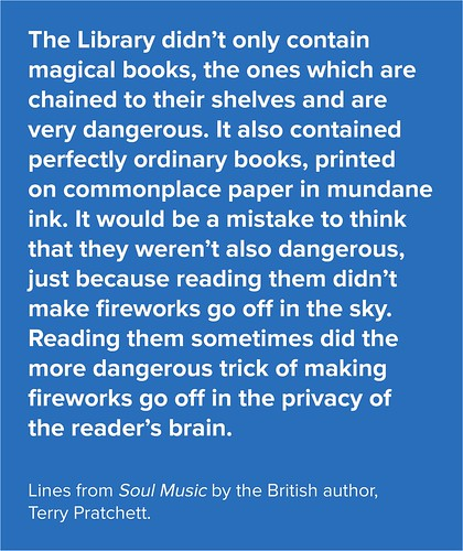 Terry Pratchett on libraries