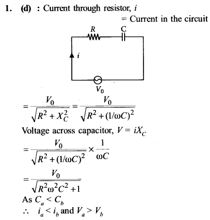 NEET AIPMT Physics Chapter Wise Solutions - Electromagnetic Induction and Alternating Current explanation 1