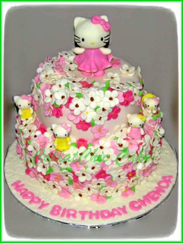 Cake Hello Kitty CHENOA 24 cm dan 18 cm