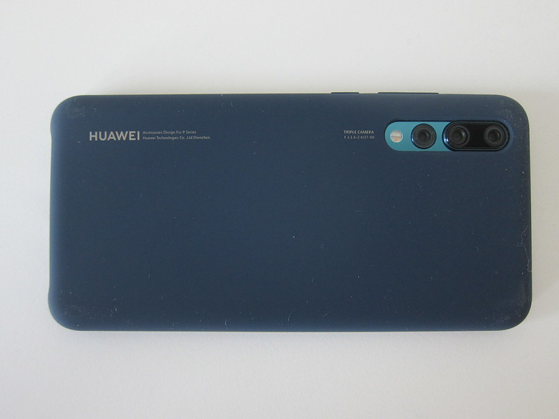 Huawei P20 Pro Official Silicon Case - With P20 Pro - Back