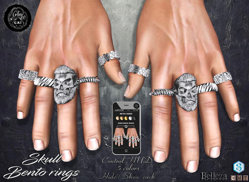… SpotCat … Skull – Bento rings