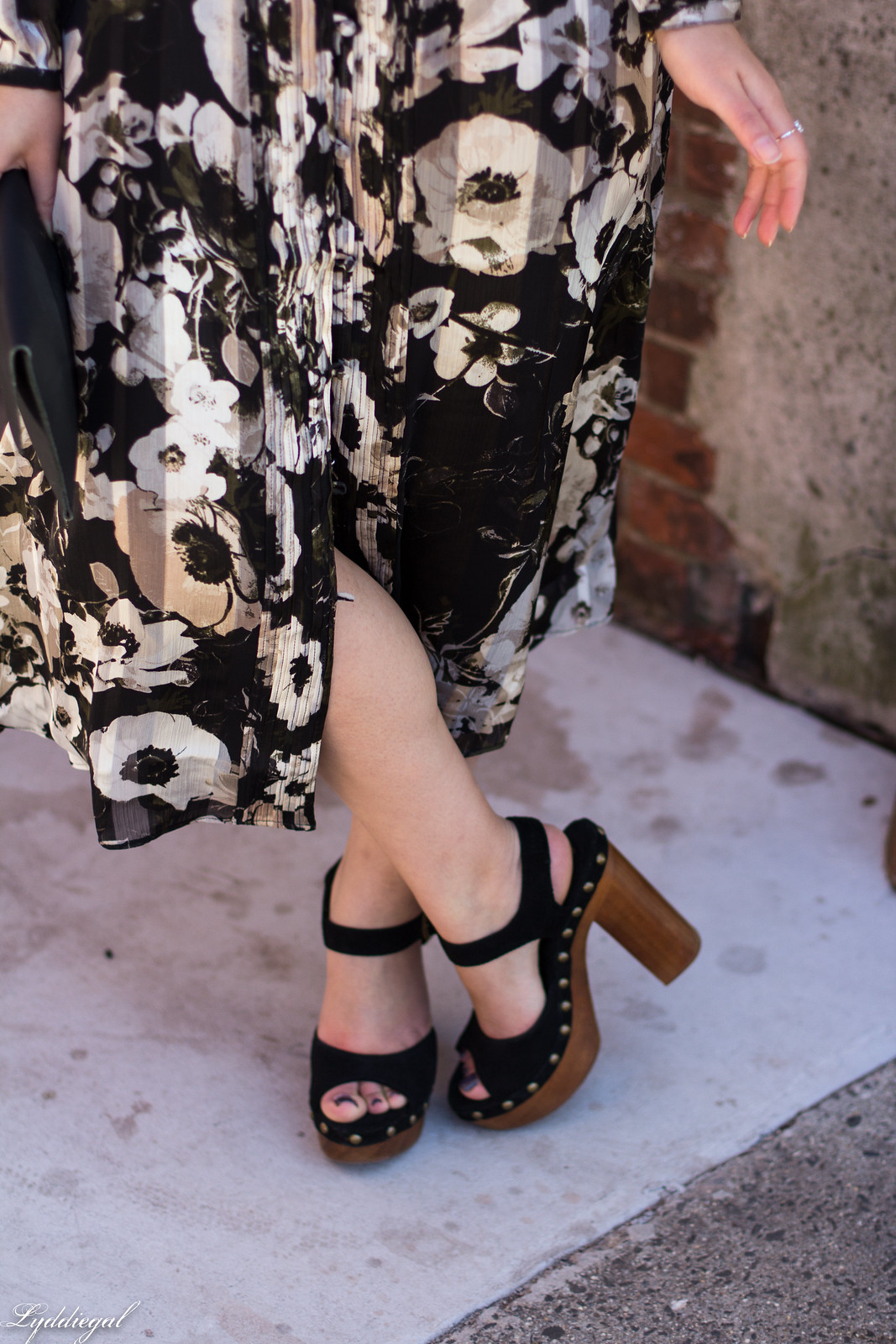 black and white floral midi dress, Jeffrey Campbell Splendid sandals, spring outfit-6.jpg